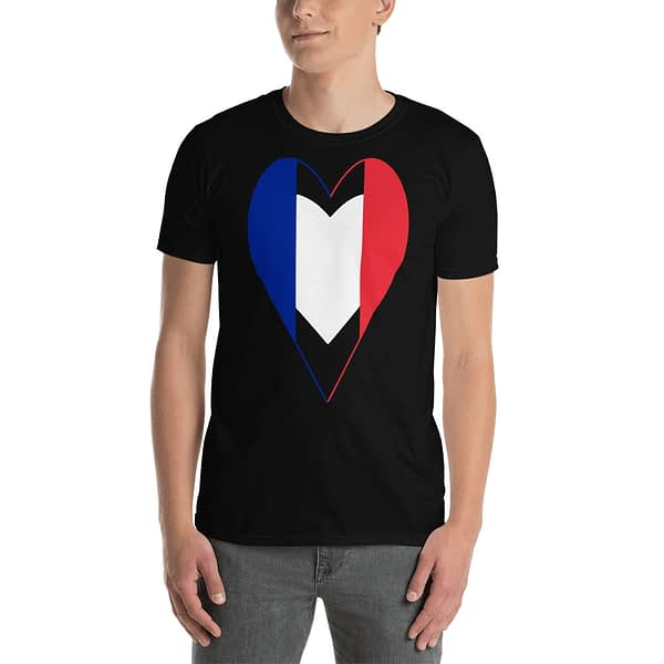 Tricolore Heart French Flag T-Shirt