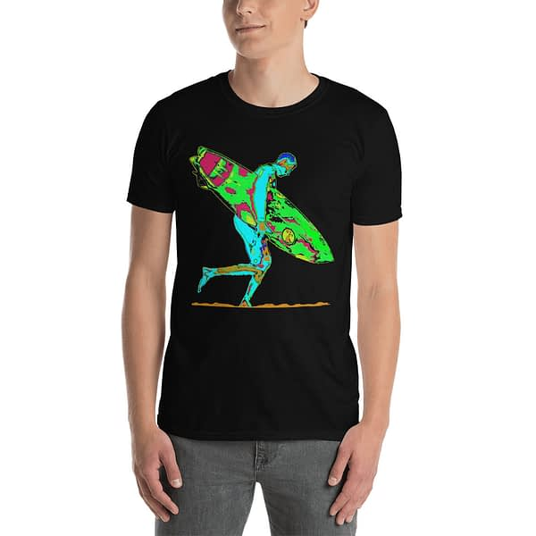 Surfboard Surfer Colorful T-Shirt.