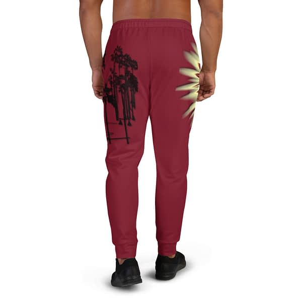 Sunset Palm Trees Abstract Joggers