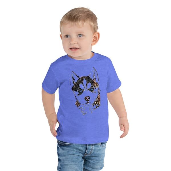 Husky Puppy Head Drawing Toddler Tee