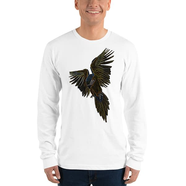 Macaw Flying Parrot Long Sleeve T-shirt