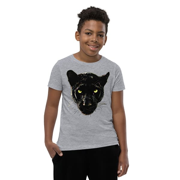 Black Panther Head Youth T-Shirt