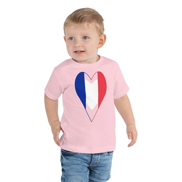 Tricolore Heart French Flag Toddler Tee