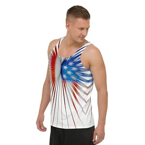 American Flag Strong Stripes Tank Top