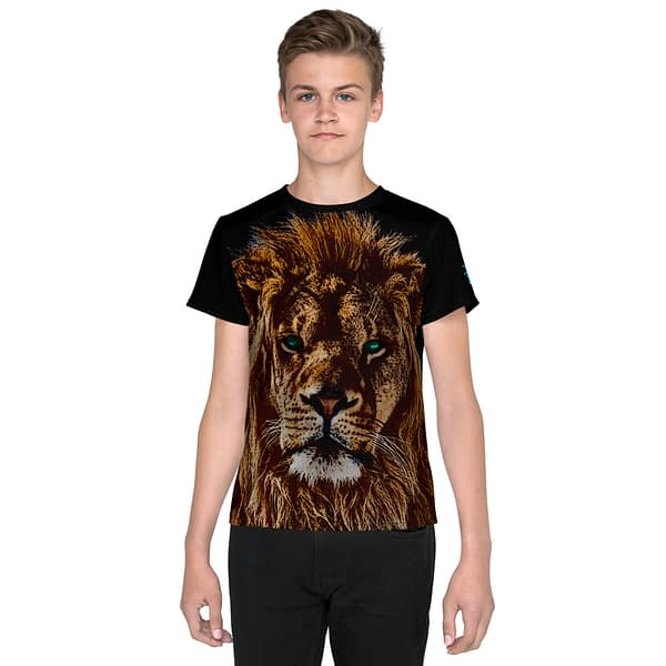 African Lion Head Youth T-shirt