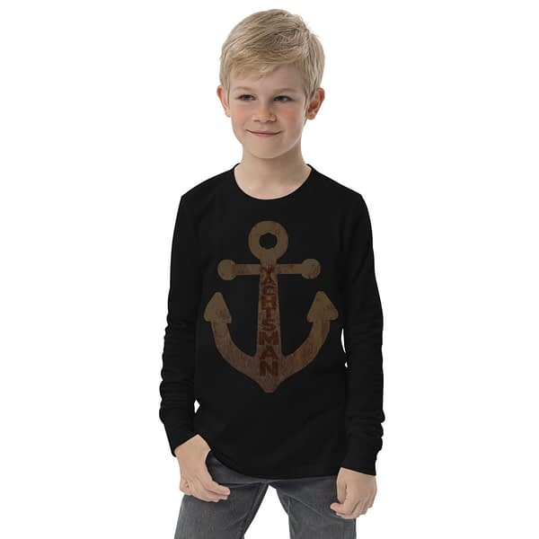 Yachtsman Anchor Rustic Youth Long Sleeve