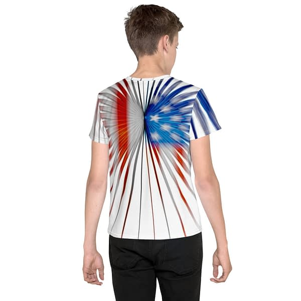 American Flag Strong Stripes Youth T-shirt