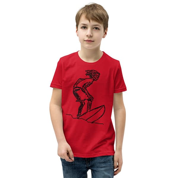 Surfer Riding Waves Youth T-Shirt