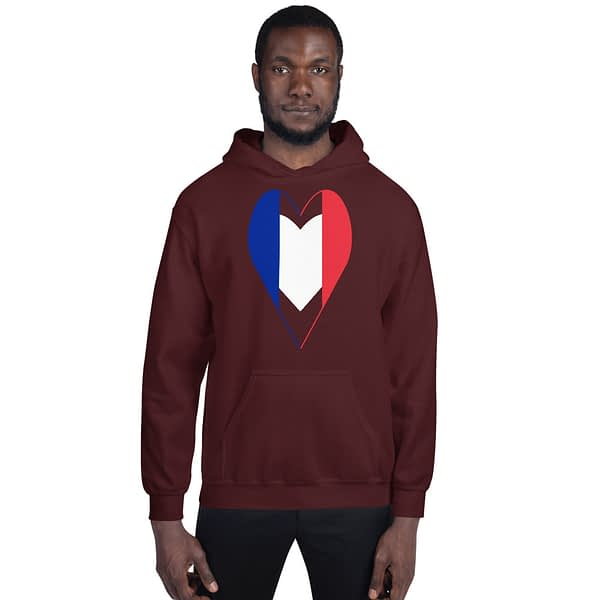 Tricolore Heart French Flag Hoodie