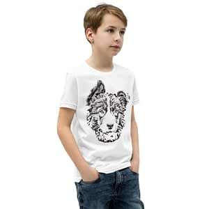 Border Collie Youth Short Sleeve T-Shirt