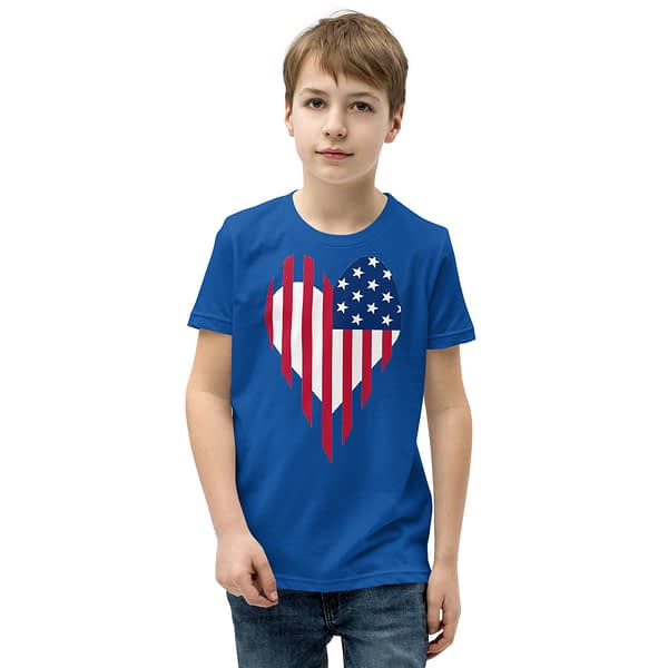 Stars and Stripes US Flag Youth T-Shirt