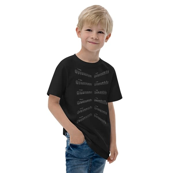 Music Major Scales Youth Jersey T-shirt