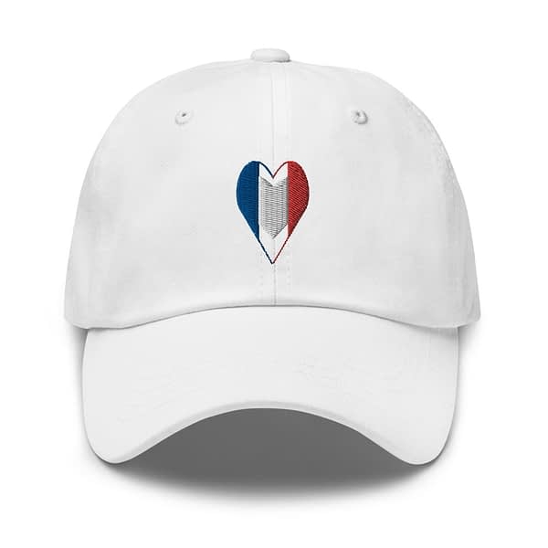 Tricolore Heart French Flag Dad Hat