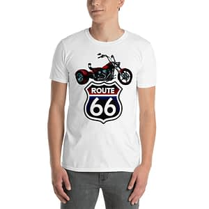 Motorcycle Chopper Route 66 T-Shirt