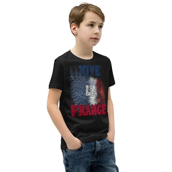 French Flag Vive Grunge Youth T-Shirt