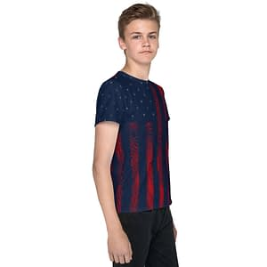American Flag Red Grunge Youth T-shirt