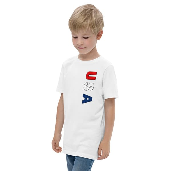USA Red White Blue Youth Jersey T-shirt