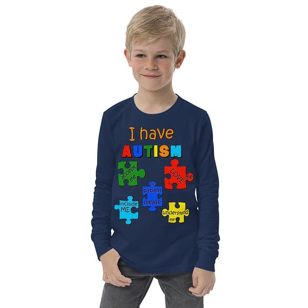 Autism Puzzle Youth Long Sleeve Tee