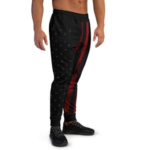 American Flag Red Grunge Joggers