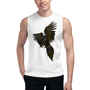 Macaw Flying Parrot Muscle Shirt