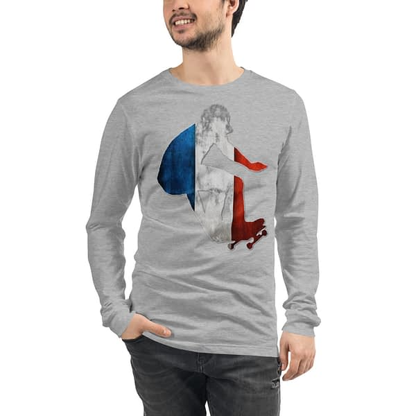 Skater French Colors Long Sleeve T-Shirt