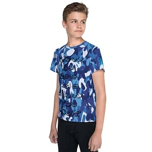 Camo Navy See Me Youth T-shirt