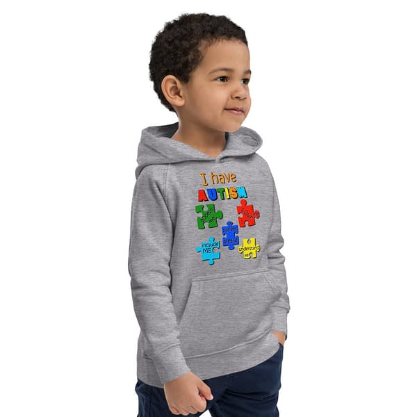 Autism Puzzle Youth Eco hoodie